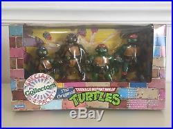 RARE Vintage 1992 ORIGINAL NINJA TURTLES Special Collectors 4 Pack TMNT Box Set
