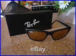 RARE Vintage B&L Ray Ban Cats Diamond Hard 3000 Sunglasses Black Case & Box