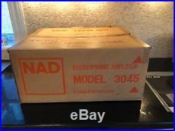 RARE Vintage NAD 3045 Stereo Amplifier Original Box & Manual