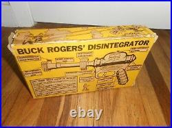RARE Vintage ORIGINAL BUCK ROGERS 25th Century DISINTEGRATOR SPACE RAY GUN & BOX