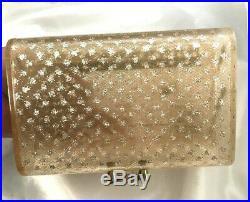 RARE Wilardy Star Dust Jewel Box Lucite Double-Decker Handbag Purse