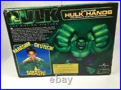 RARE the ORIGINAL 2003 electronic HULK HANDS new, open box
