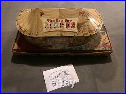 Rare 1950's Marx The Big Top Circus with Original Box Beautiful Set Animals