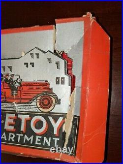 Rare 1950's Tootsietoy Fire Department Set with Original Box trucks parts restore