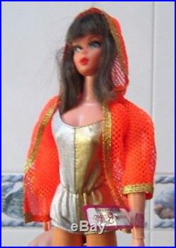 Rare 1969 Mod Dramatic New Livingbarbie1116boxlinerossstandwrist Tagec