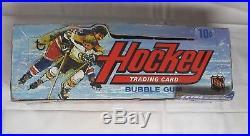 Rare 1973-74 Topps Hockey Cards Empty Store Display Box 24 Packs Nice Vg