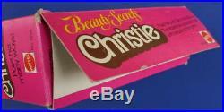 Rare 1979 BEAUTY SECRETS CHRISTIE Open Worn Box SUPERSTAR face Black Barbie AA