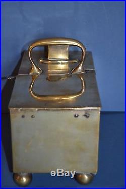Rare 19th Century George III Brass Tavern Honesty Tobacco Box By Rich, c 1800