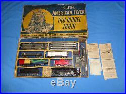 Rare American Flyer Pre-war #5640 NYC Hudson Freight Set withOriginal Set Box