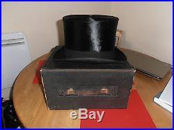 Rare Andre & Co Black Silk Top Hat size 7 3/8 in Original Box