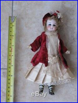 Rare Antique All Original 8 Inch Belton Doll With Box