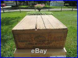 Rare Antique Kirk`s Flake Soap Advertising Shipping Crate-indian Chief Design