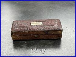 Rare Antique Pocket Drawing Instruments/Drawing Set Optician original box