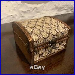 Rare! Authentic Vintage Gucci Mini Trunk Jewellery Box 70's Original Condition