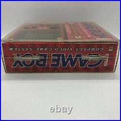 Rare Boxed Original Manchester United Nintendo Gameboy DMG in Hard Plastic Case