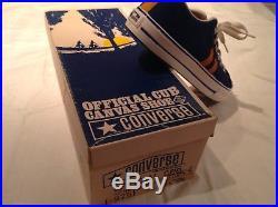 Rare CONVERSE OFFICIAL CUB SCOUT CANVAS SHOE Original BOX 50-60s Mens Vintage US