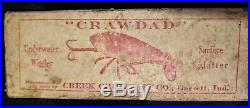Rare Creek Chub Bait co INTRO Box version crawdad. This is the BOX ONLY no lure