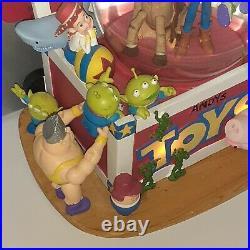 Rare Disney Pixar Original Toy Story Andy's Toy Box Lighted Musical Snow Globe