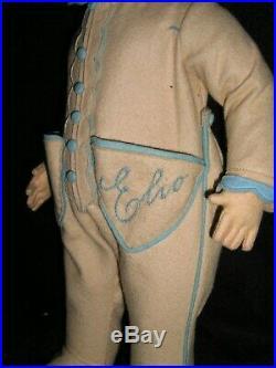 Rare Early Lenci Boy ELIO with Tiny Schuco Monkey Original Box MINT