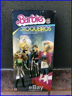Rare Estrela Mattel Barbie Roqueiros Doll In Original Box Mib Brazil