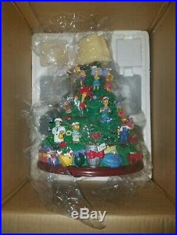 Rare Hamilton Collection The Simpsons Christmas Tree Original Box/Packing With COA