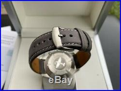 Rare IWC Pilot Spitfire Chronograph Slate Gray Dial Watch IW387802 Box & Paper
