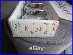 Rare Joseph Lang Nems Uk Beatles Drinking Glasses Set In Pop-up Display Box 1964