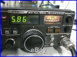 Rare Kenwood Trio TR-9000G original box microphone DC cord Work # 1506