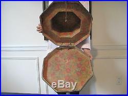Rare Korean Joseon Dynasty Octagon Shape Paper Mache Nobleman Hat Box