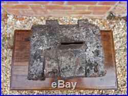 Rare Late 15th Century Medieval Period English Antique Iron Bound Offertory Box