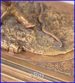 Rare Mechanical Bergman Vienna Bronze Erotica Cherub Box