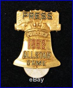 Rare! Mint 1952 All-star Game Press Pin Phila Phillies Shibe Pk Orig Box & Clasp