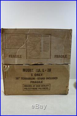 Rare NEW IN ORIGINAL BOX Mid Century Modern Atomic Terrarium 1960's L -10 34.5