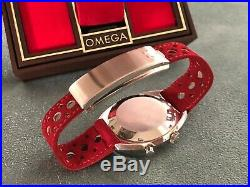 Rare Never Worn Vintage Omega Chronostop Watch Red Dial In Original Box