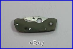Rare New in Box Numbered C128GP SPYDERCO Leaf Storm Folding Knife