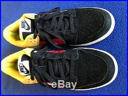 Rare Nike Dunk Low CL Limited Edition 2005 Black/Red/Yellow Size 9 Original Box