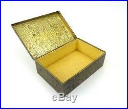 Rare Original German Bauhaus Avantgarde Art Deco Box 1925 Brass By Erhard Söhne