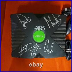 Rare Original Microsoft Xbox Bundle Signed by Metal Band Korn in Original Box