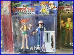 Rare Pokemon Trainer Ash&Misty Brock&Nurse Joy Team Rocket TOMY Figures All Set