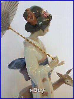 Rare Retired Lladro Oriental Forest 1997 Porcelain Figurine with Original Box