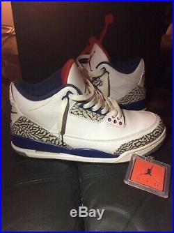 Rare Retro Nike Air Jordan 3 III OG Mens Size 8.5 In Original Box True Blue