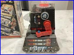 Rare Robotank Z Talking Robot Nm Japan Tin Battery Operated In Original Box