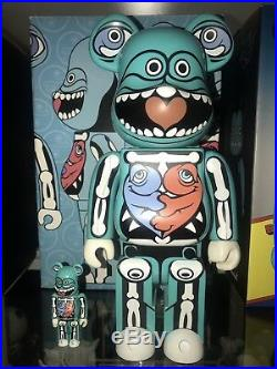 Rare Ron English Bearbrick 2007 400% 100% With Original Box Urban Art
