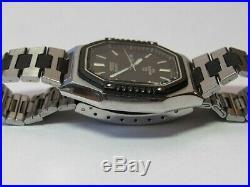 Rare Seiko Sports 100 6923-5070 Mens Watch Black Silver With Original Box