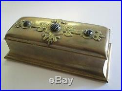 Rare Tiffany Reed Co Union Square Antique Metal Box W Glass Box Sculpture Casket