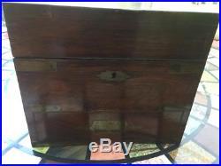 Rare Victorian Brass Bound/campaign Mahogany Apothecary Box & Original Contents