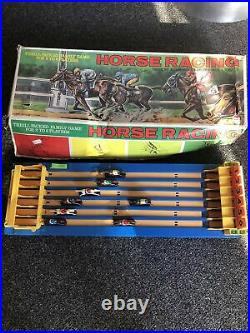 Rare Vintage 1960s Shinsei Battery Operated Horse Racing Game in Original Box