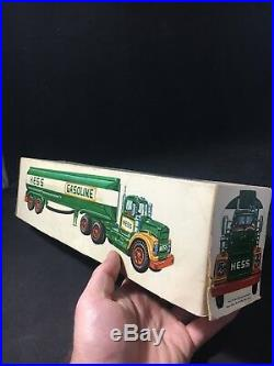Rare Vintage 1968 1969 Marx Gasoline Toy Tanker Truck with Original Box