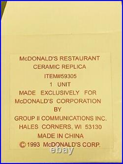 Rare Vintage 1993 McDonald's Restaurant Ceramic Replica #59305 New In Box