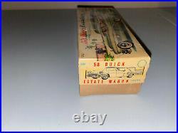 Rare Vintage Bandai Japan Tin Friction Buick Estate Wagon With Original Box
